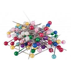Булавка канцелярская Economix 33 мм цветной шарик 100 штук (E41104)