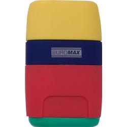 Ластик + точилка с контейнером RAINBOW Buromax (BM.4771-1)