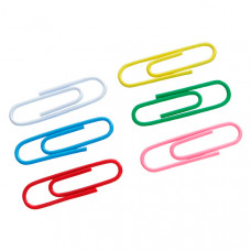 Скрепки канцелярские Axent 28 мм 100 штук круглые цветные  Арт. 4106-А