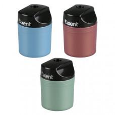 Точилка Axent с контейнером пластик ассорти (1153-А)