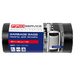 Пакеты для мусора ProService 60 л черные HD 40 шт (16113100)