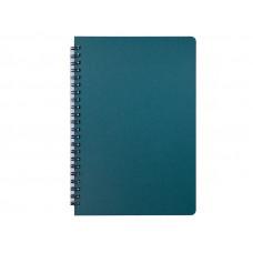 Блокнот BuroMax OFFICE А5 96 листов офсет клетка пластиковая обложка на пружине зеленый (BM.24551150-04)
