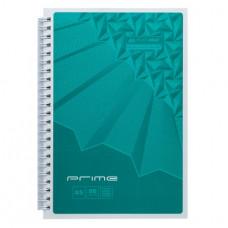 Блокнот BuroMax PRIME А5 96 листов офсет клетка картонная обложка на пружине бирюзовый (BM.24551101-06)