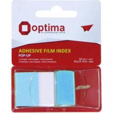 Стикеры-закладки Optima 45х25 мм 50 листов голубые (O25533-11)