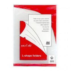 Папка-уголок KLERK А4 пластиковый прозрачный (KL0210)