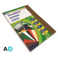 Обложка для переплета DA А4 180 мкм пластик прозрачный коричневый (1220102020300)