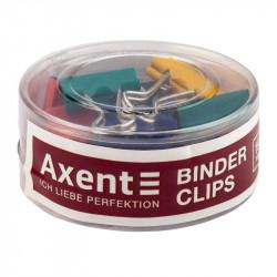 Биндер Axent 19 мм металлический цветной /за 12 шт/ (4409-А)