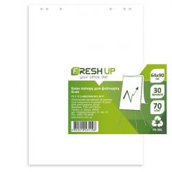 Бумага для флипчарта Fresh Up 64х90 см 30 листов 70 г/м2  нелинованная (100703)