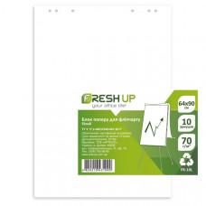 Бумага для флипчарта Fresh Up 64х90 см 10 листов 70 г/м2  нелинованная (100701)