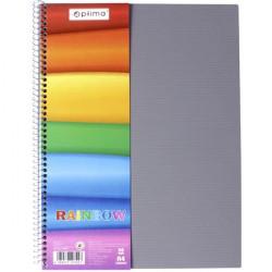 Блокнот Optima А4 80 листов боковая пружина обложка пластик (O20342)