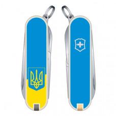 Нож Victorinox Classic SD Ukraine желто-голубой (0.6223.7R3)