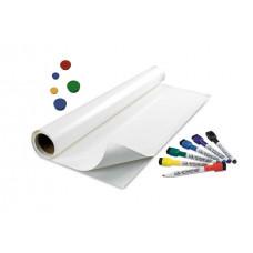 Магнитно-маркерная пленка (наклейка, маркерные обои) белая глянцевая Le Vanille 1,2 метра (00703)