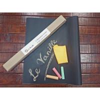 Меловая пленка (наклейка, обои) черная Le Vanille Эконом 1,2 метра (00701)