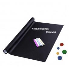 Магнитно-грифельная пленка (наклейка, маркерные обои) черная Le Vanille 1,2 метра (00707)