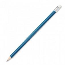 Простой карандаш с ластиком голубой (11390720)