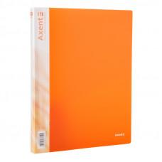 Папка на 2 кольца A4 Axent 25мм прозрачная оранжевая (1207-25-A)