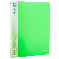 Папка на 2 кольца A4 Axent 25мм прозрачная зеленая (1207-26-A)