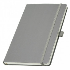Записная книга на резинке А5 Эко Appeel линия 192стр. серый (13924739)