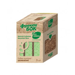 Губки кухонные Фрекен Бок Go Green целюлозные биоразлагаемые 3 штуки (15501650)