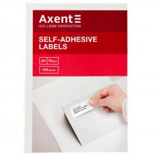 Этикетки самоклеящиеся Axent 210x148.5мм 2шт/л уп/100 (2471-A)