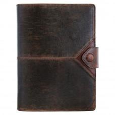 Ежедневник Privilege Бомбер А5 кожаный, коричневый с золоченым срезом страниц (25203-Br)