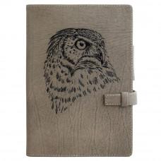 Ежедневник Privilege Сова А5 кожаный, серый с золоченым срезом страниц (25204)