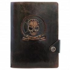 Ежедневник Privilege Оптимус А5 кожаный, коричневый с золоченым срезом страниц (25206-Br)