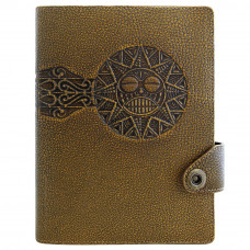 Ежедневник Privilege Смайлик А5 кожаный, коричневый с золоченым срезом страниц (25207)