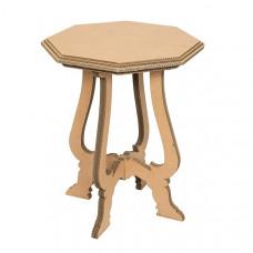 Картонный столик с резными ножками