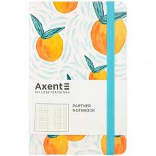 Книга записная Partner BBH гибкая PU обложка с ярким дизайном Orange 125х195 мм 96 листов в клетку (8210-03-A)