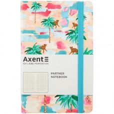 Книга записная Partner BBH гибкая PU обложка с ярким дизайном Palm 125х195 мм 96 листов в клетку (8212-02-A)
