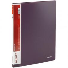 Дисплей-книга 20 файлов Axent А4 пластиковая сливовая (1020-11-A)