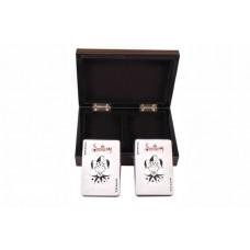 Две колоды карт в деревянной шкатулке (B11L)