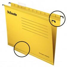 Файл (Папка, обложка) подвесной для картотеки ESSELTE CLASSIC А4 картон /упак. 25 шт/ желтый (90314)