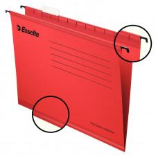 Файл (Папка, обложка) подвесной для картотеки ESSELTE CLASSIC А4 картон /упак. 25 шт/красный (90316)