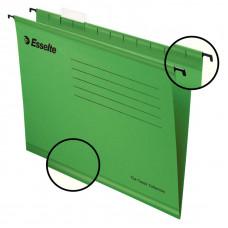 Файл (Папка, обложка) подвесной для картотеки ESSELTE CLASSIC А4 картон /упак. 25 шт/ зеленый (90318)