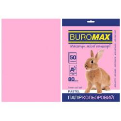 Бумага цветная офисная Buromax А4 80 г/м2 50 листов PASTEL розовая (BM.2721250-10)