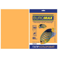 Бумага цветная офисная Buromax А4 80 г/м2 50 листов NEON оранжевая (BM.2721550-11)