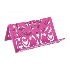 Подставка для визиток BuroMax Barocco металл. розовый ( BM.6226-10)