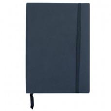 Блокнот деловой А5 96 листов линия обложка искусственная кожа черный (BUR. 162-B25-01)