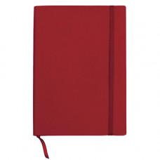 Блокнот деловой А5 96 листов  линия обложка искусственная кожа красный (BUR. 162-B25-05)