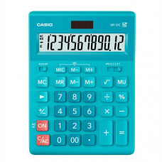Калькулятор Casio 12 разрядный голубой 155х209х34.5 мм (GR-12C-RG-W-EP)