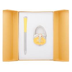Набор подарочный Langres Fairy Tale  ручка шариковая  + крючок д/ сумки желтый (LS.122027-08)