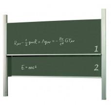 Меловая доска академическая (слайдер) 120x200 см 2x3 керамическая (STKK1220P3)