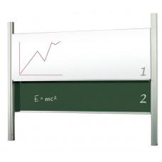 Доска академическая (слайдер) мел/маркер 120x250 см 2x3 керамическая (STSK1225P3)