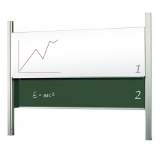 Доска академическая (слайдер) мел/маркер 120x300 см 2x3 керамическая (STSK1230P3)