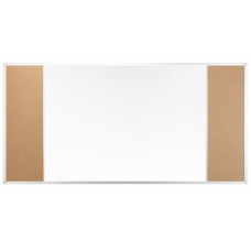 Магнитная доска комбинированная маркер/пробка 100x170 см 2x3 (TCA3SC1710)