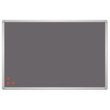 Магнитная доска информационная текстиль/сетка 90x120 см 2x3 PinMag серая рама (TPA129)