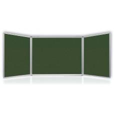 Меловая доска настенная 100x340 см 2x3 5 рабочих поверхностей лакированная (TRK1710/UA)