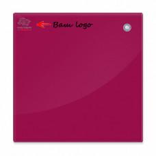 Магнитная доска стеклянная 90x120 см 2x3 красная (TSZ129R) с нанесением логотипа